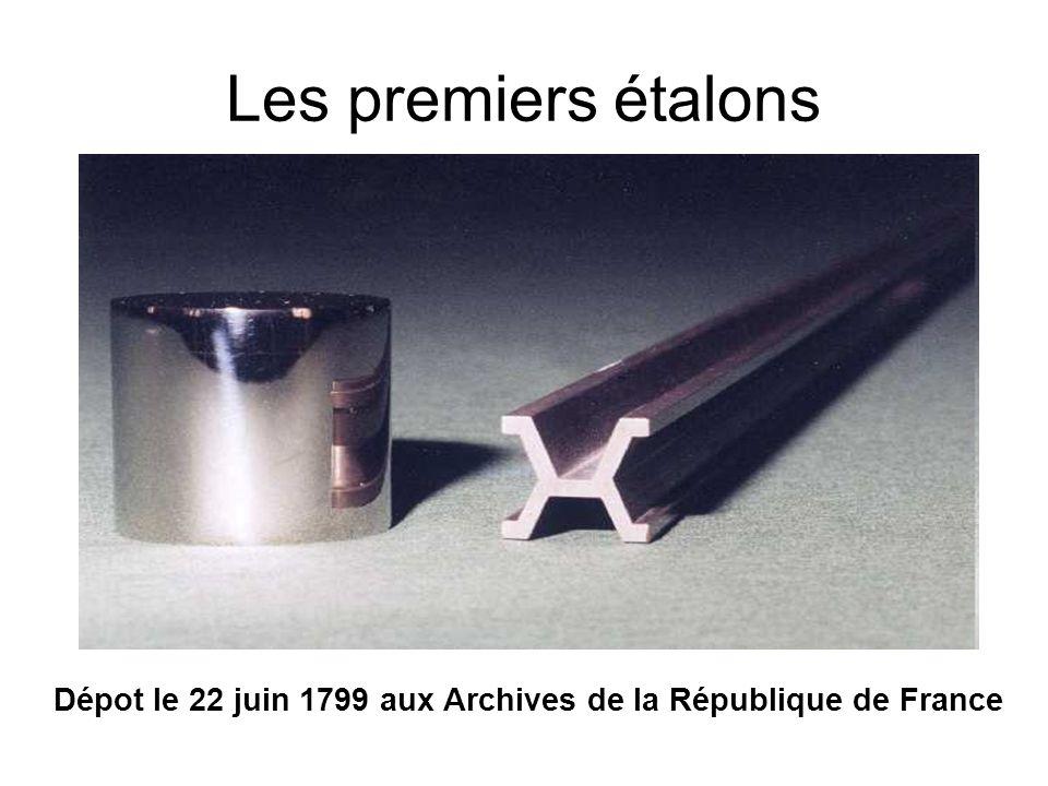 Dépot le 22 juin 1799 aux Archives de la République de France