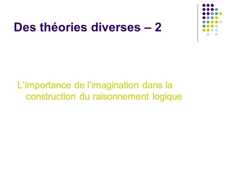 Des théories diverses – 2