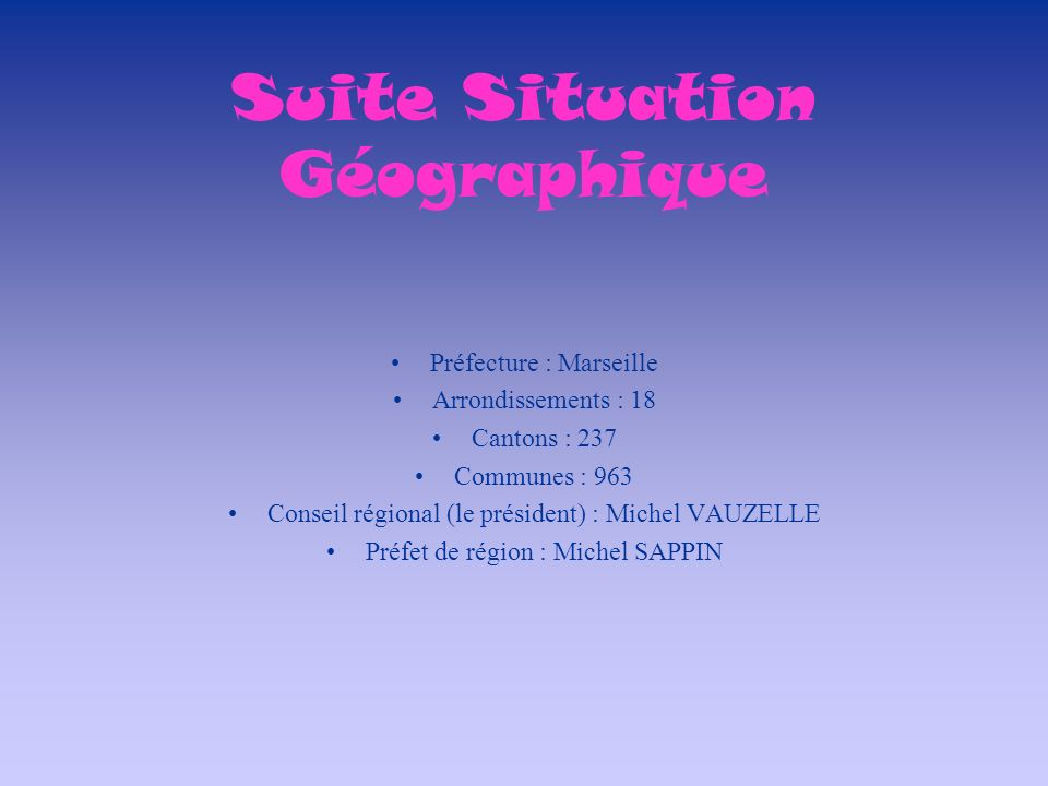 Suite Situation Géographique