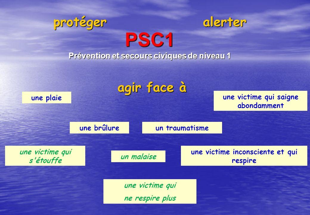 PSC1 protéger alerter agir face à
