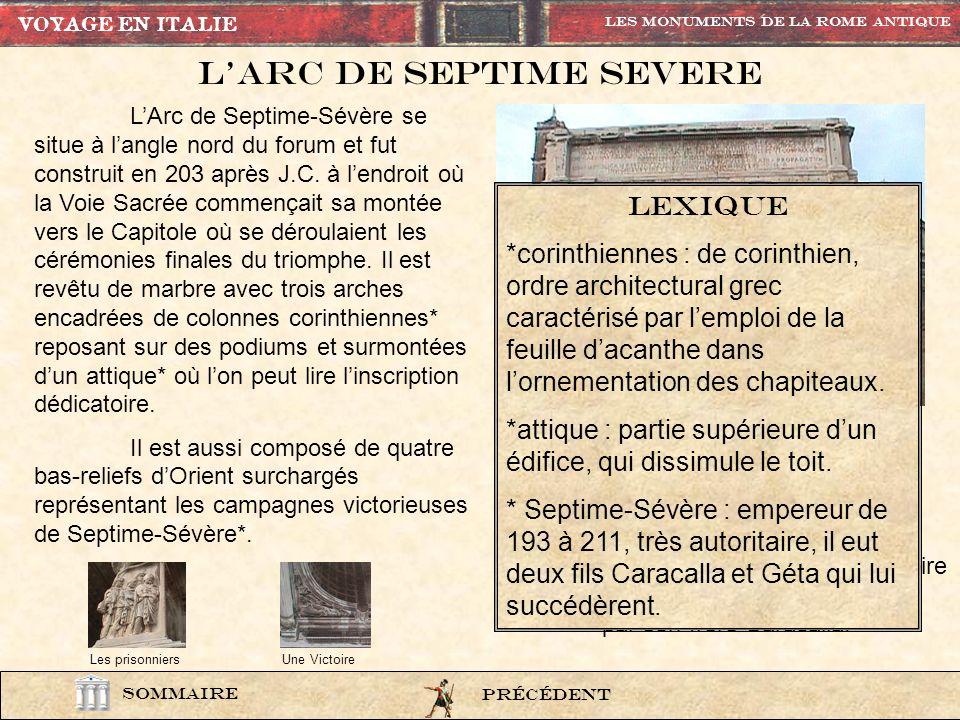 L'ARC DE SEPTIME SEVERE