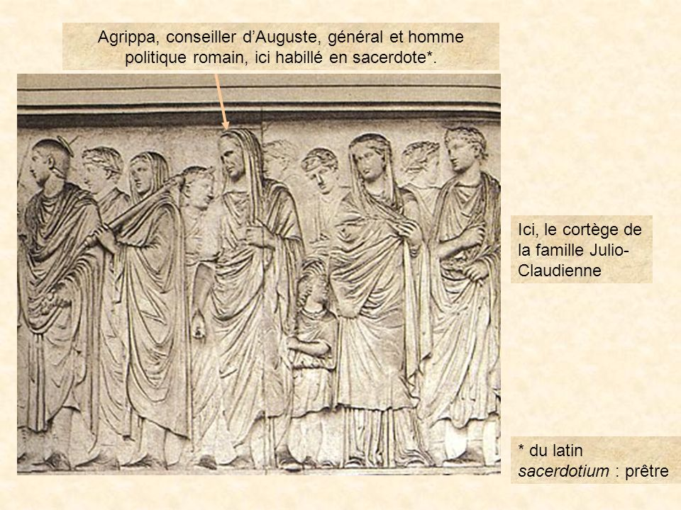 Ici, le cortège de la famille Julio-Claudienne