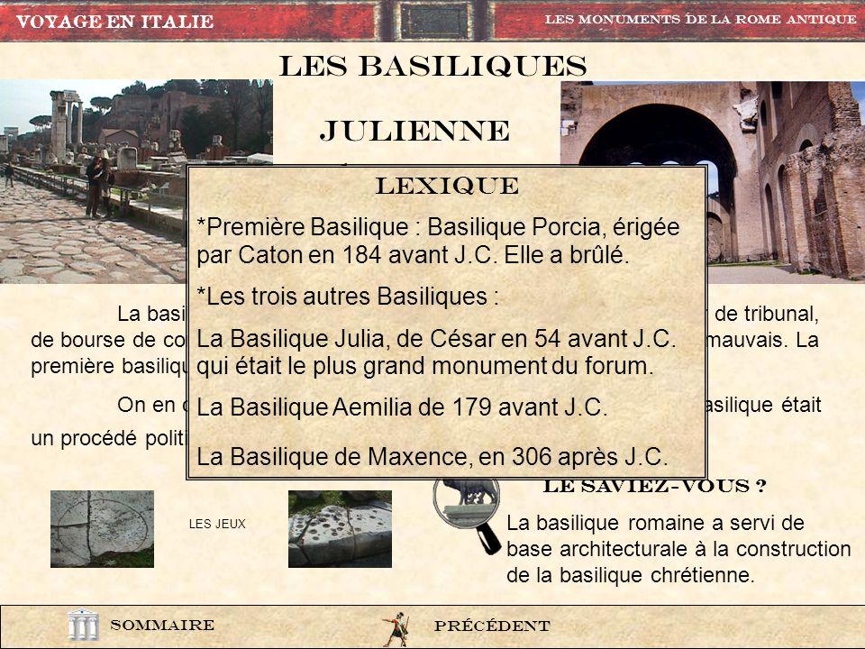 Les basiliques JULIENNE maxence lexique
