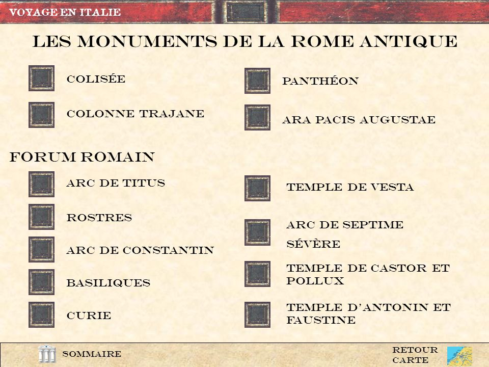 Les Monuments de la rome Antique