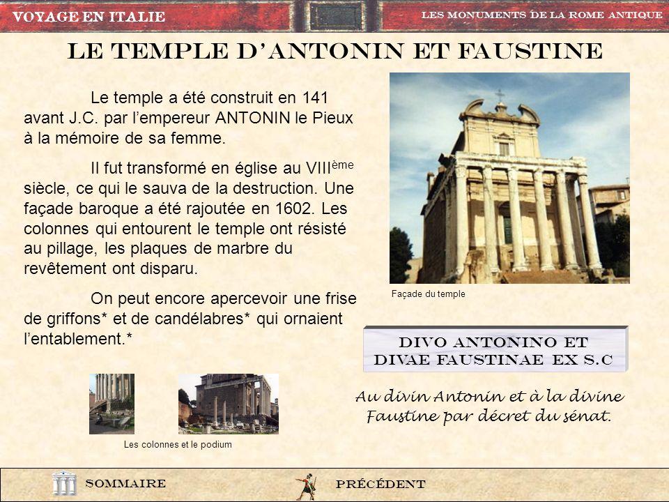 Le Temple d'Antonin et faustine