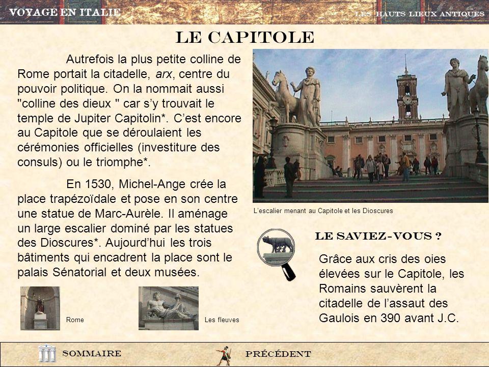 VOYAGE EN ITALIELes HAUTS LIEUX ANTIQUES. Le CAPITOLE.