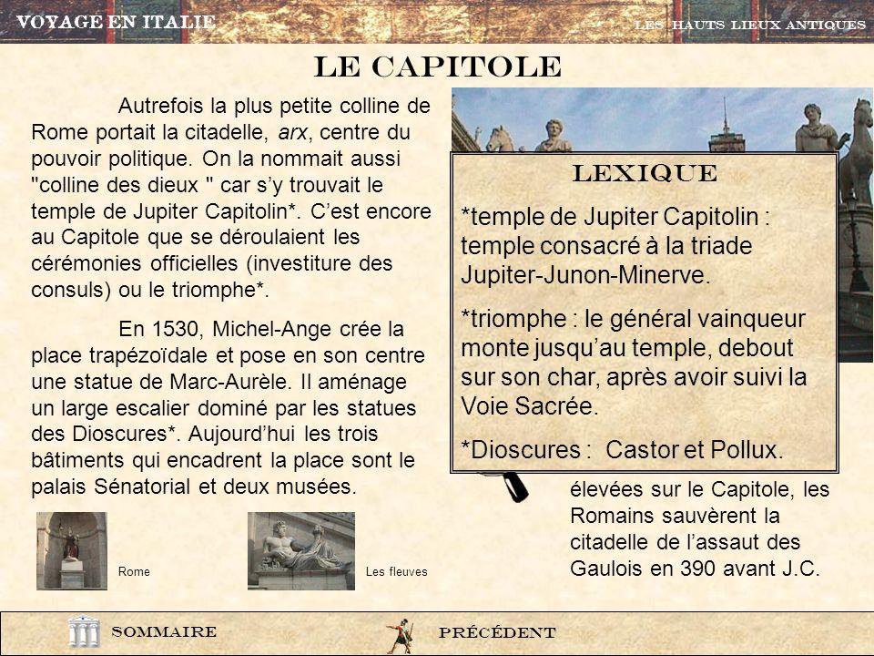 VOYAGE EN ITALIE Les HAUTS LIEUX ANTIQUES. Le CAPITOLE.