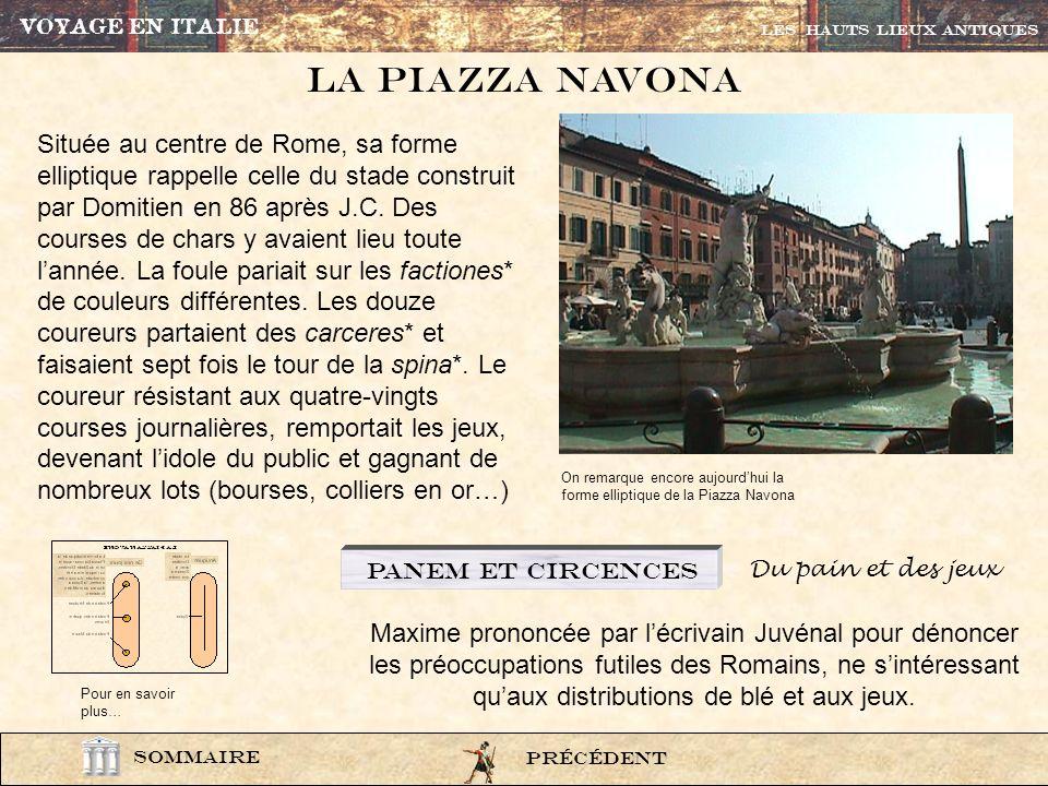 VOYAGE EN ITALIELes HAUTS LIEUX ANTIQUES. La Piazza navona.