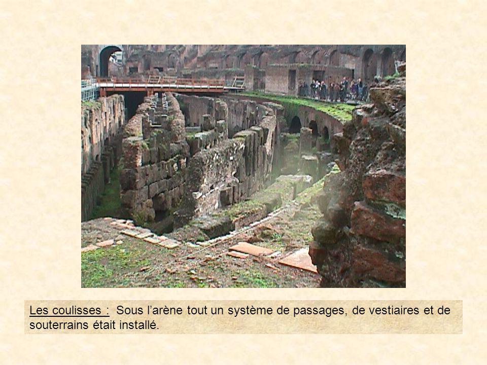 photo11Les coulisses : Sous l'arène tout un système de passages, de vestiaires et de souterrains était installé.