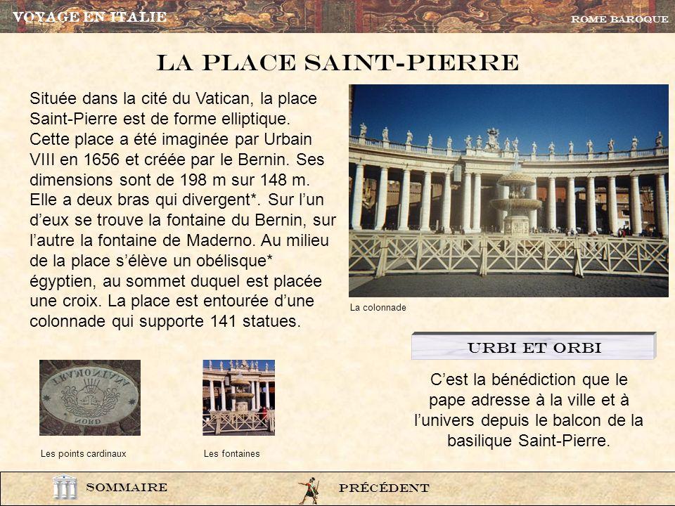 VOYAGE EN ITALIE ROME BAROQUE. La Place Saint-pierre.