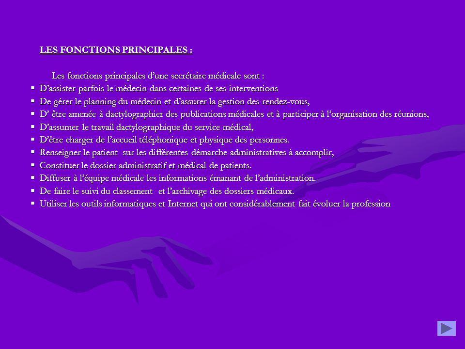 LES FONCTIONS PRINCIPALES :