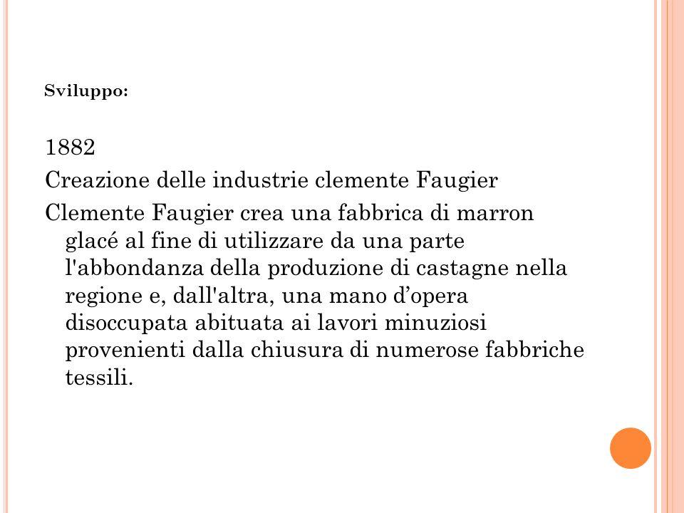 Creazione delle industrie clemente Faugier