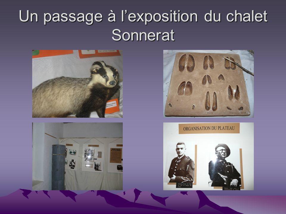 Un passage à l'exposition du chalet Sonnerat