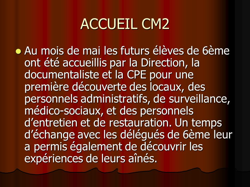 ACCUEIL CM2