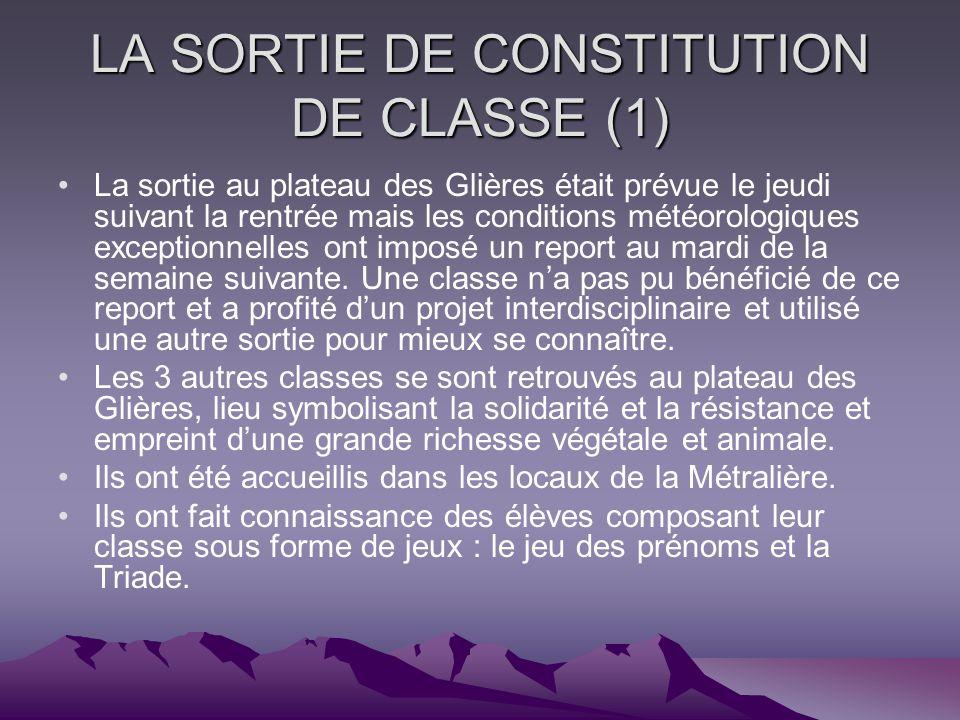LA SORTIE DE CONSTITUTION DE CLASSE (1)