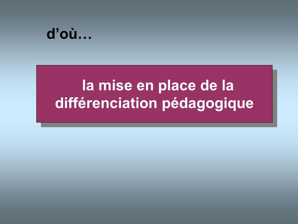 la mise en place de la différenciation pédagogique