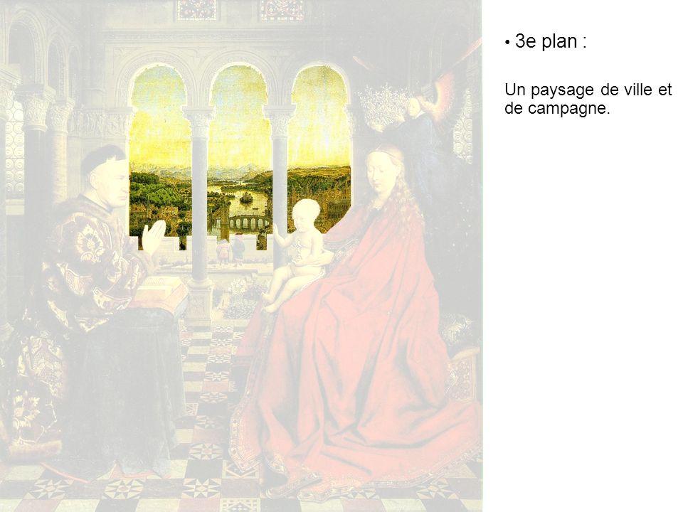3e plan : Un paysage de ville et de campagne.