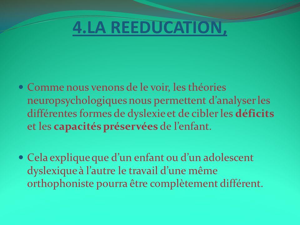 4.LA REEDUCATION,