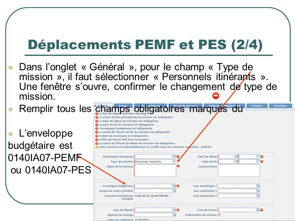 Déplacements PEMF et PES (2/4)