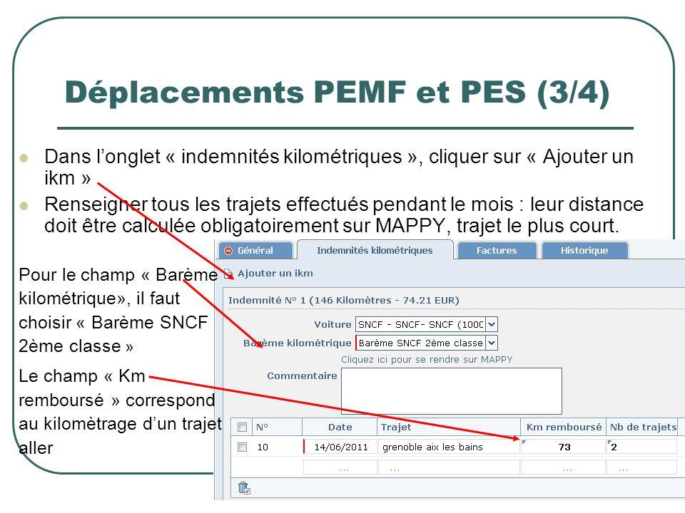 Déplacements PEMF et PES (3/4)