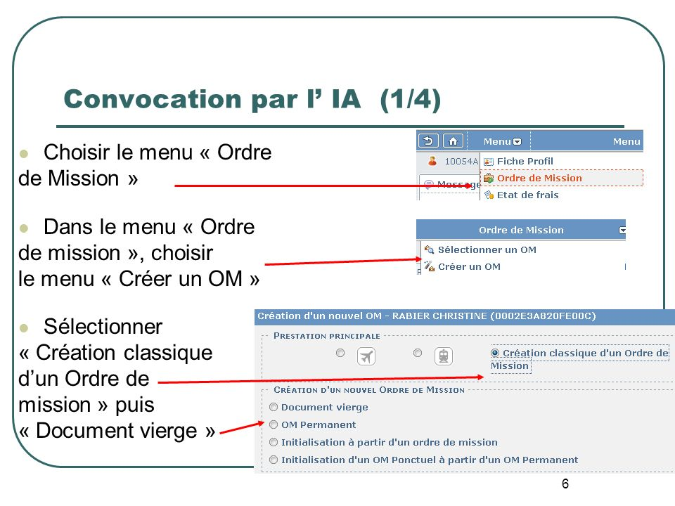 Convocation par l' IA (1/4)