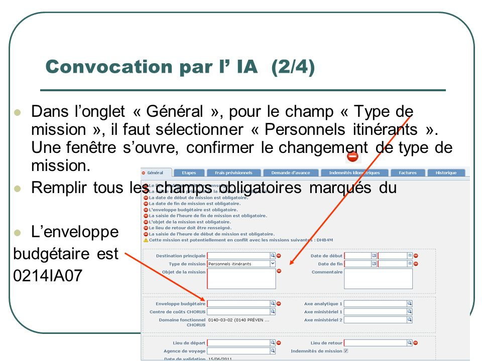 Convocation par l' IA (2/4)