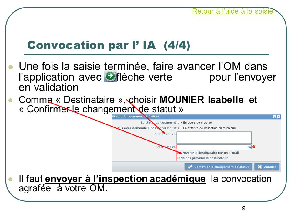 Convocation par l' IA (4/4)