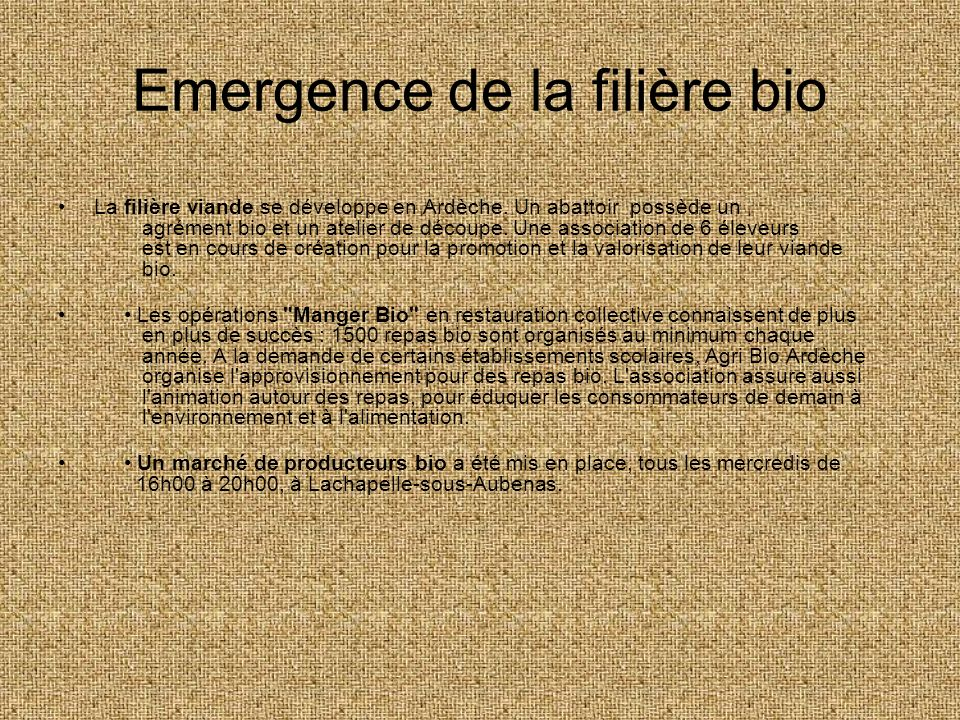 Emergence de la filière bio