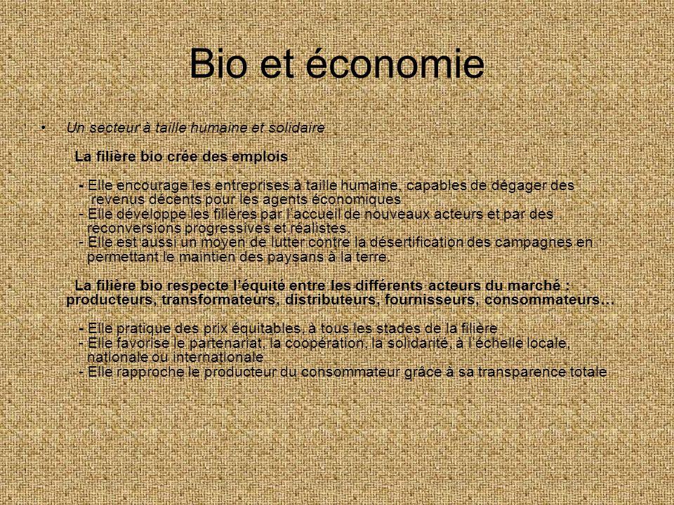 Bio et économie