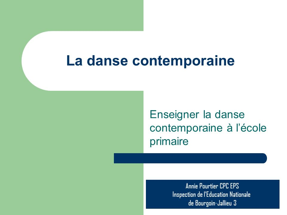 La danse contemporaine