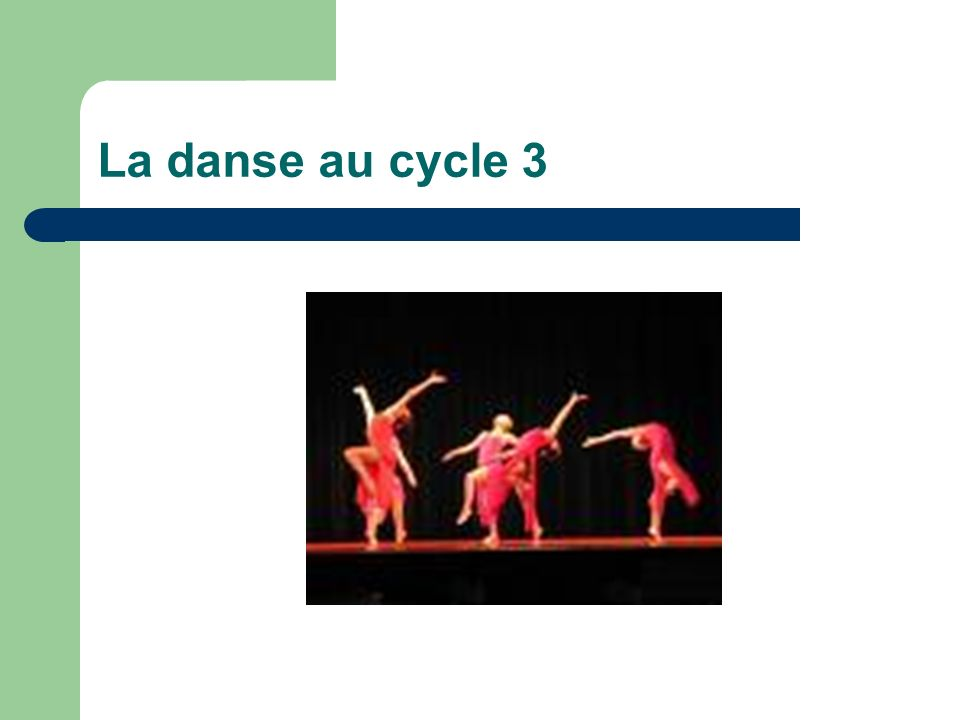 La danse au cycle 3