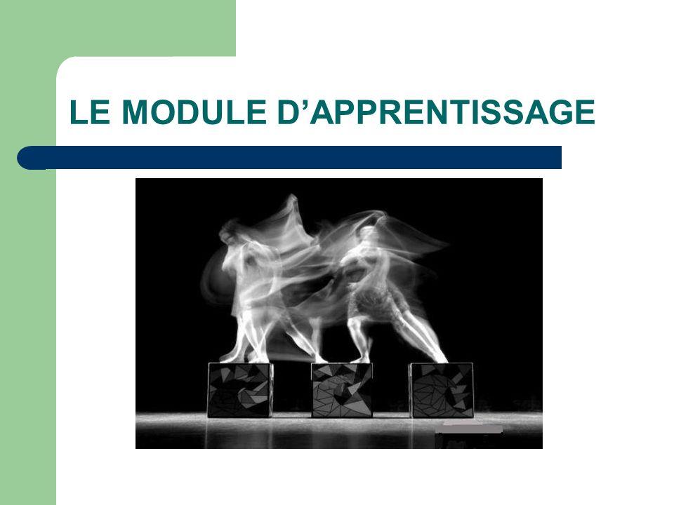 LE MODULE D'APPRENTISSAGE