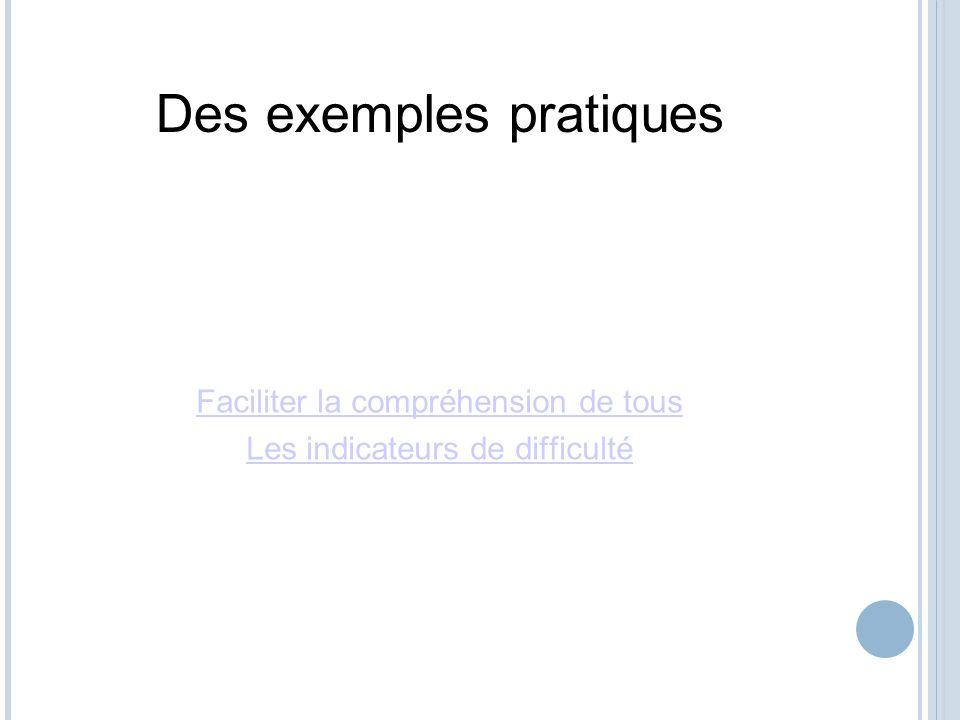 Des exemples pratiques