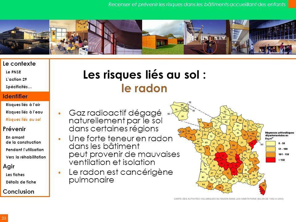 Les risques liés au sol : le radon