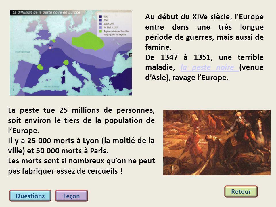Au début du XIVe siècle, l'Europe entre dans une très longue période de guerres, mais aussi de famine.