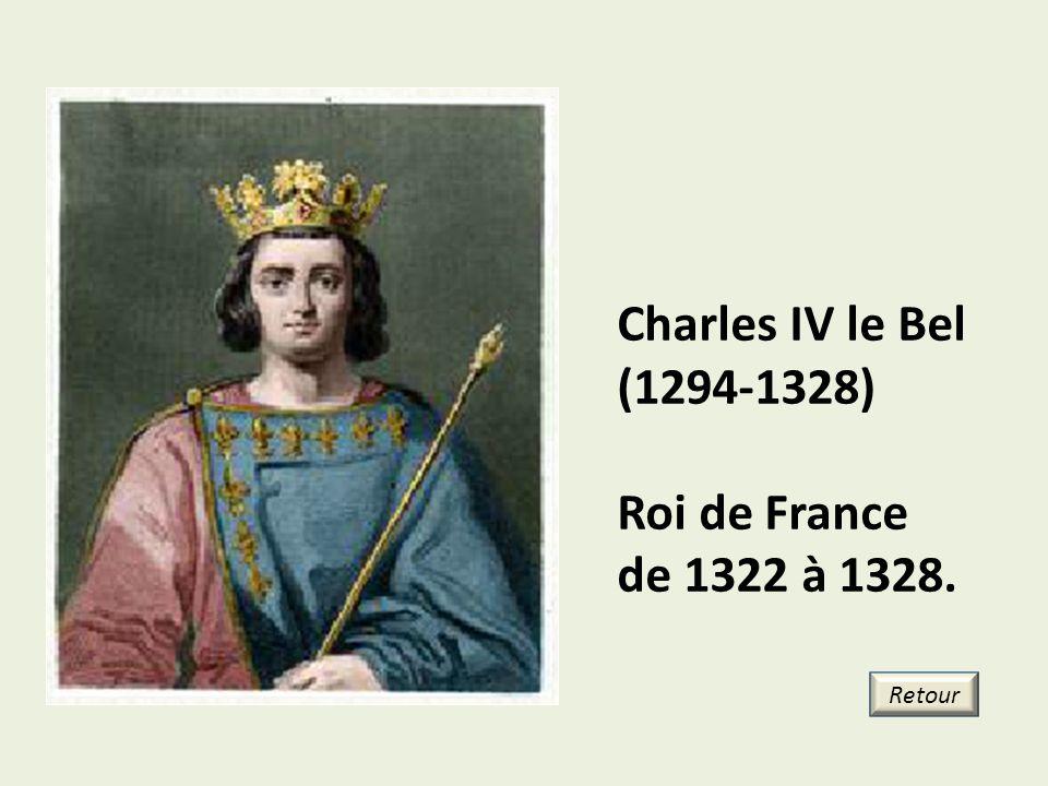Charles IV le Bel (1294-1328) Roi de France de 1322 à 1328. Retour 18