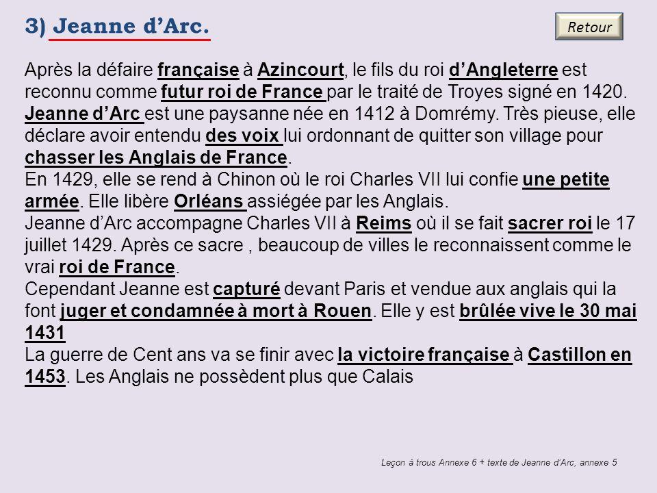 3) Jeanne d'Arc. Retour.