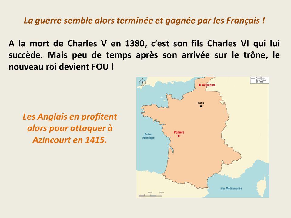 La guerre semble alors terminée et gagnée par les Français !
