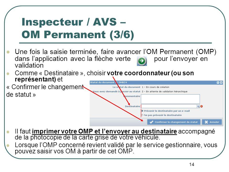 Inspecteur / AVS – OM Permanent (3/6)