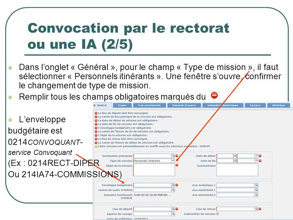 Convocation par le rectorat ou une IA (2/5)