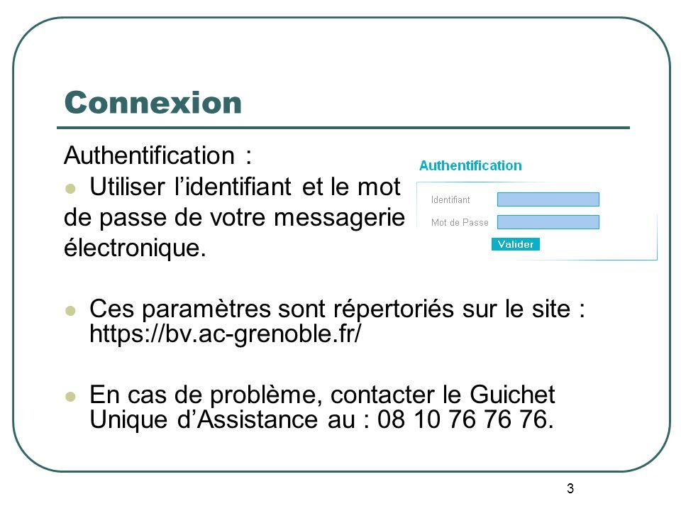 Connexion Authentification : Utiliser l'identifiant et le mot