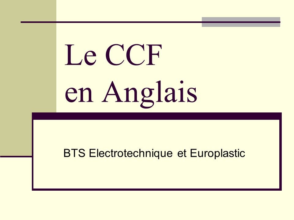 BTS Electrotechnique et Europlastic