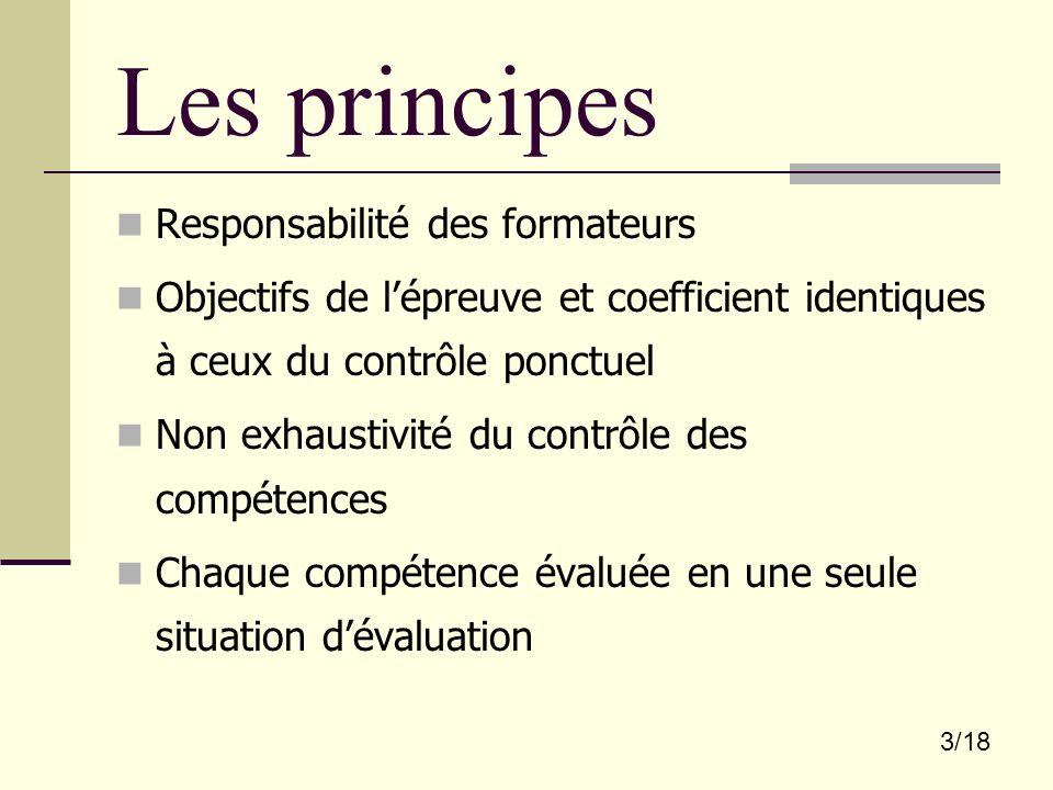 Les principes Responsabilité des formateurs