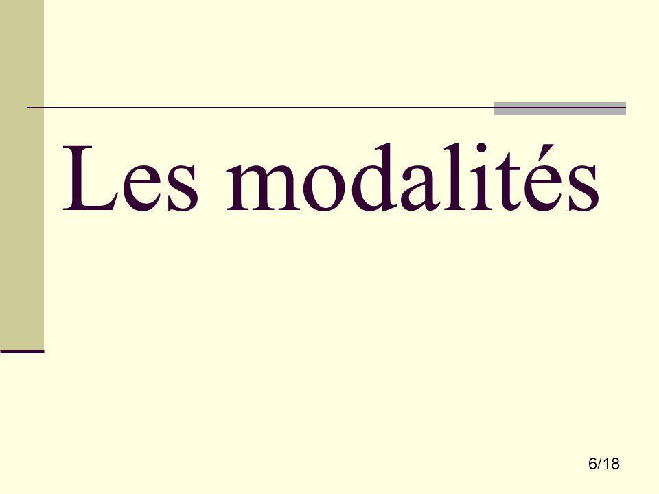 Les modalités