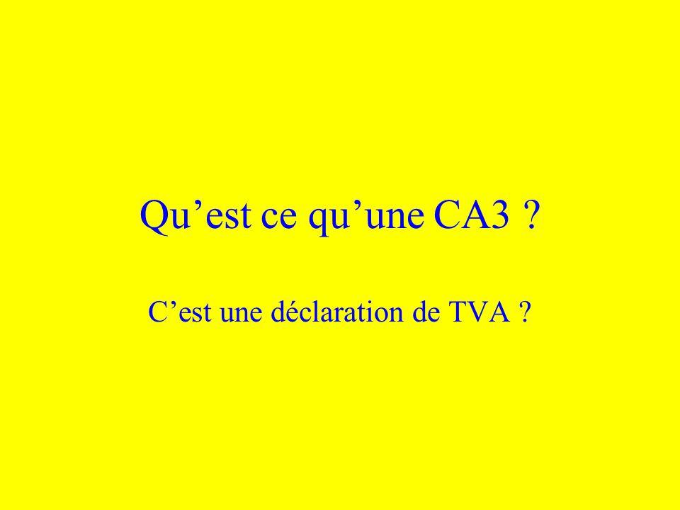 C'est une déclaration de TVA