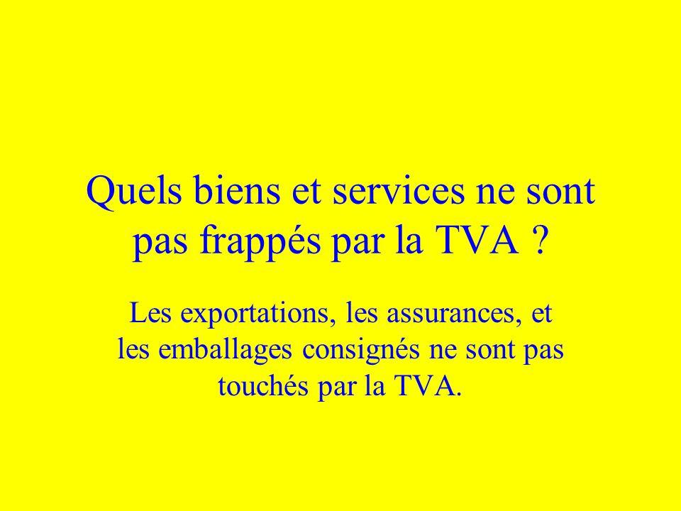 Quels biens et services ne sont pas frappés par la TVA