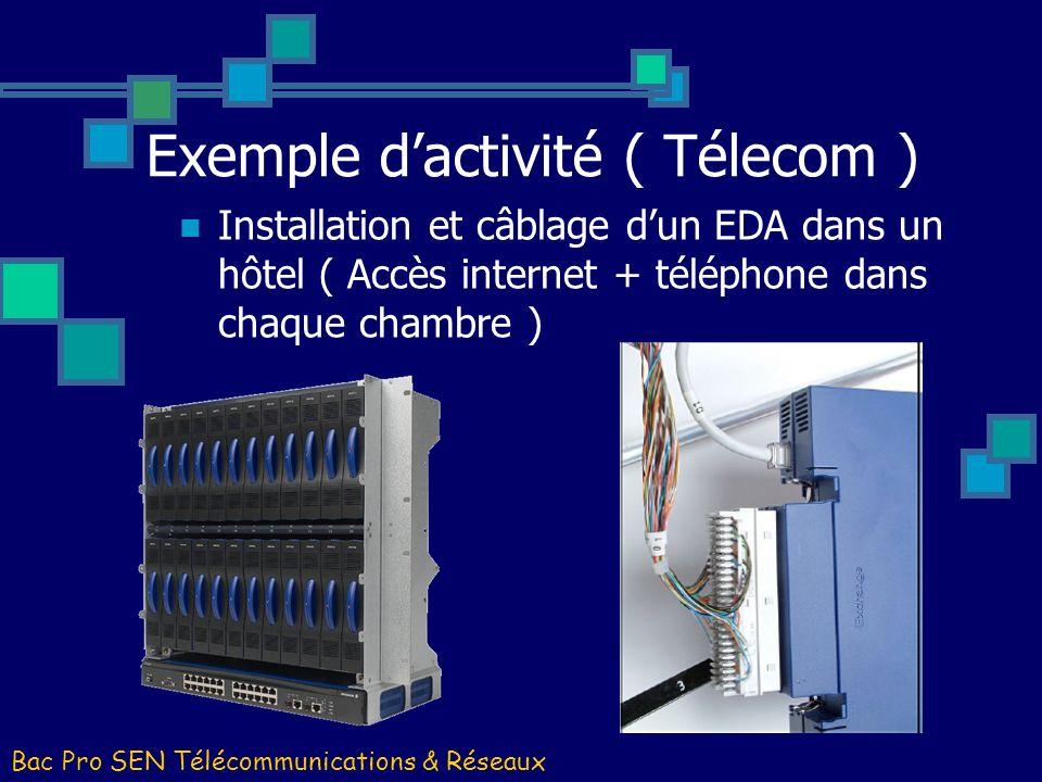 Exemple d'activité ( Télecom )