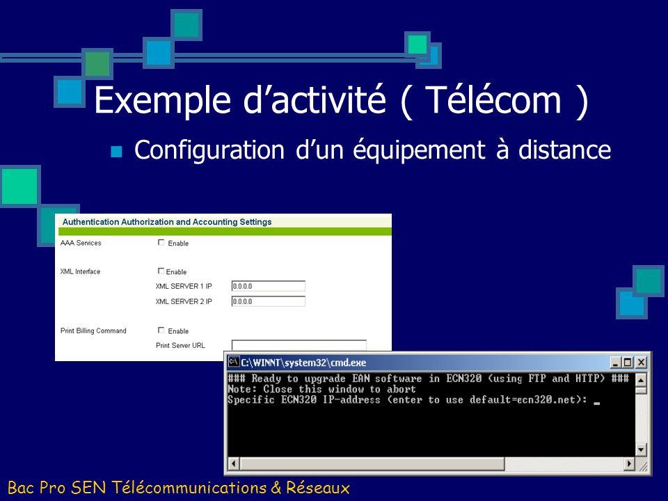 Exemple d'activité ( Télécom )