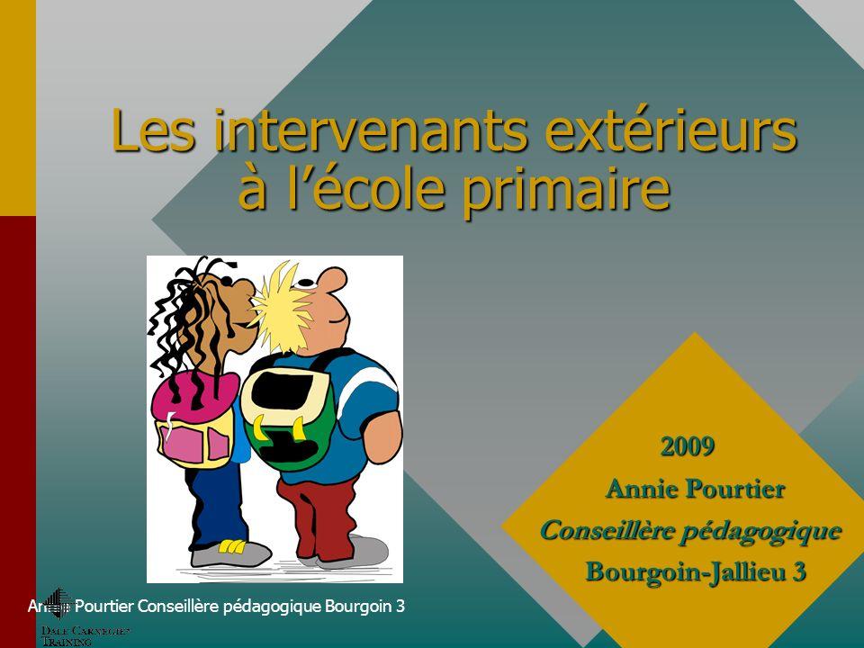 Les intervenants extérieurs à l'école primaire