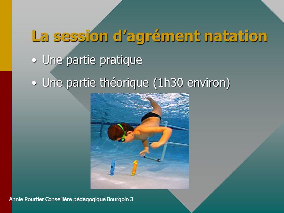 La session d'agrément natation